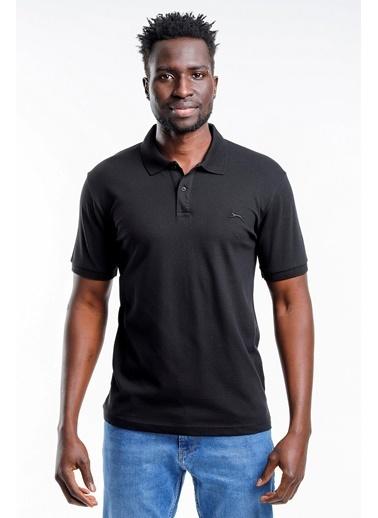 Slazenger Slazenger SALVATOR Erkek T-Shirt Petrol Siyah